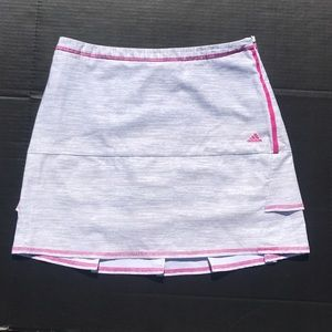 Adidas Golf Tennis Skort Gray White Pink